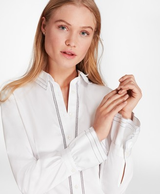 Brooks Brothers Cotton Sateen Ruffle-Cuff Shirt