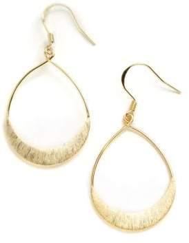 Lord & Taylor 18K Gold Over Sterling Silver Teardrop Earrings