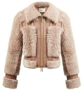 Zimmermann Fleeting Shearling Bomber Jacket - Womens - Light Pink