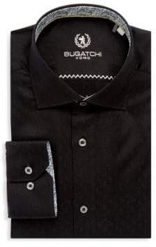 Bugatchi Cotton Long-Sleeve Dress Shirt
