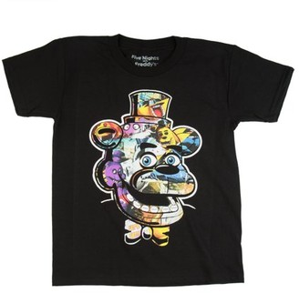 Five Nights At Freddy's Five Nights at Freddy's Trap Art Black Cotton T-Shirt (Little Boys & Big Boys)
