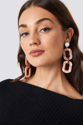 Na Kd Accessories Chained Resin Look Earrings Pink