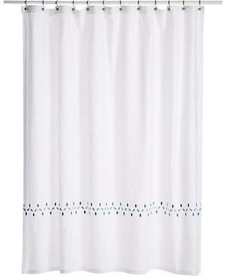 One Kings Lane Matouk For Petala Shower Curtain - Azure/Blue