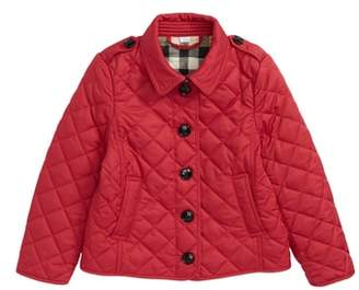 Burberry Mini Ashurst Diamond Quilted Jacket