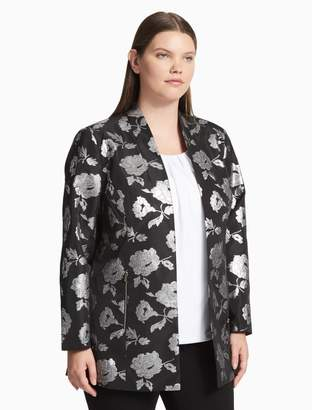 Calvin Klein plus size metallic floral jacket