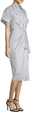 Jason Wu Dobby Striped Cotton Shirtdress