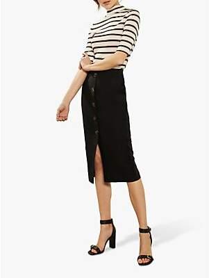 96bfddf751 Mint Velvet Button Front Skirt, Black
