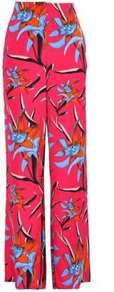 Diane von Furstenberg Floral-print Crepe De Chine Wide-leg Pants