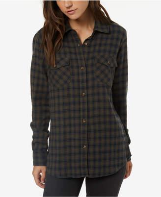 O'Neill Juniors' Cotton Plaid Shirt