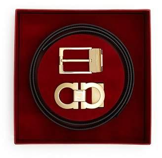 Salvatore Ferragamo Belt Box Set with Gold Finish $495 thestylecure.com