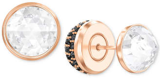Swarovski Rose Gold-Tone Pave Crystal Front & Back Earrings