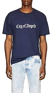 "ADAPTATION Men's ""City Of Angels"" Cotton-Cashmere T-Shirt - Navy"