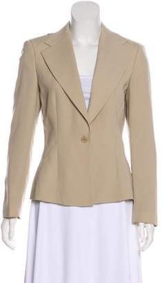 Emporio Armani Fitted Long Sleeve Blazer