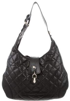 Burberry Leather Brook Hobo
