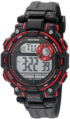 Armitron Sport Unisex 45/7066RED Red Accented Digital Chronograph Matte Black Resin Strap Watch