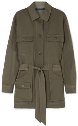 Vanessa Seward Fergus Belted Canvas Jacket - Army green