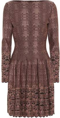 Alaia Snake and floral jersey dress