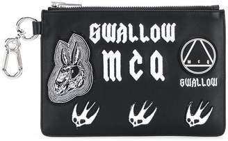 McQ embroidered clutch