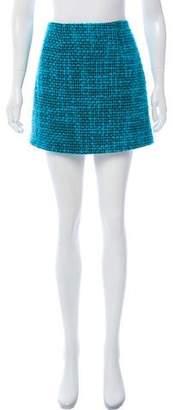 Alice + Olivia Bouclé Mini Skirt