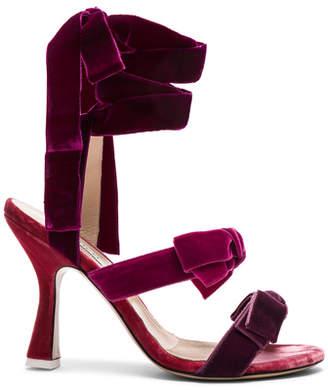 ATTICO Velvet Diletta Sandals