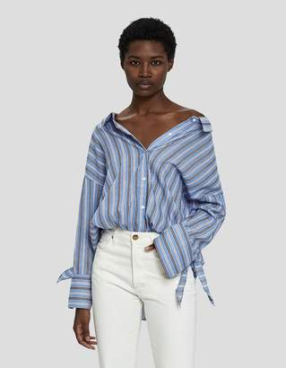Farrow Mai Oversized Off-Shoulder Shirt