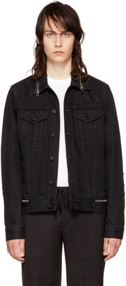 Givenchy Black Denim Zipper Jacket $1,290 thestylecure.com
