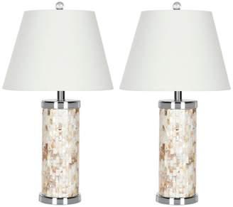 Safavieh Diana 25-Inch High Shell Table Lamp