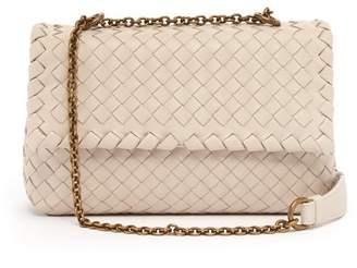Bottega Veneta Olimpia Baby Intrecciato Leather Cross Body Bag - Womens - Light Grey
