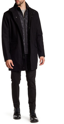 Andrew Marc Standford Wool Blend Coat $330 thestylecure.com