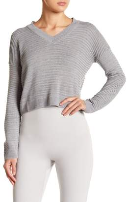 Absolutely by Creative Worldwide Ribbed V-Neck Sweater