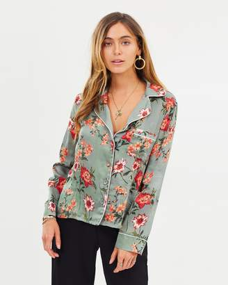 Missguided Floral Pyjama Shirt