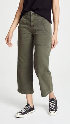 Hudson Midrise Straight Crop Cargo Pants