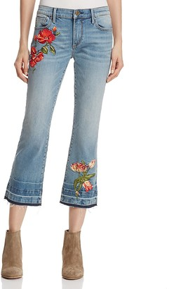 AQUA Rose Straight Crop Jeans - 100% Exclusive $98 thestylecure.com