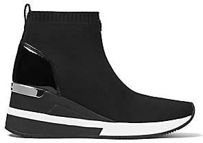 MICHAEL Michael Kors Women's Skyler Soft Knit High-Top Wedge Sneakers