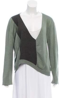 Dries Van Noten Asymmetrical Contrast Paneled Sweater