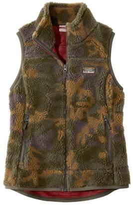 L.L. Bean L.L.Bean Women's Mountain Pile Fleece Vest, Camouflage