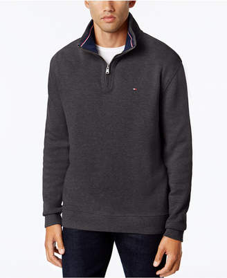 Tommy Hilfiger Men's Big & Tall Ribbed Quarter-Zip Sweater