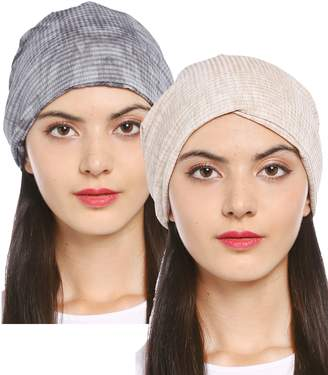 8563a102f65 Ababalaya Women s Soft Breathable Tie Dye Turban Cap Chemo Cancer Beanie Cap  Nightcap