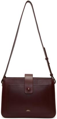 A.P.C. Burgundy Albane Bag $575 thestylecure.com