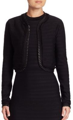 Ralph Lauren Collection Long-Sleeve Short Jacquard Jacket $1,690 thestylecure.com