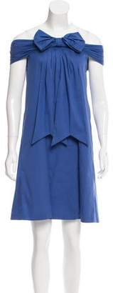 Jean Paul Gaultier Bow-Accented Shift Dress w/ Tags $280 thestylecure.com