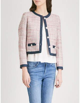 Claudie Pierlot Embellished cropped tweed jacket