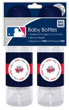 Baby Fanatic MLB Baby Bottles, 2-Pack