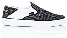 Vetements MEN'S HOUNDSTOOTH CANVAS SLIP-ON SNEAKERS - BLACK/GRAY SIZE 6 M 00505054037571