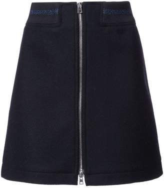 A.P.C. zipped A-line mini skirt
