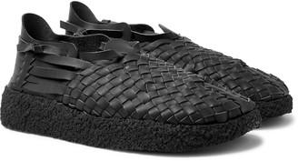 Malibu - Latigo Woven Faux Leather Sandals - Men - Black