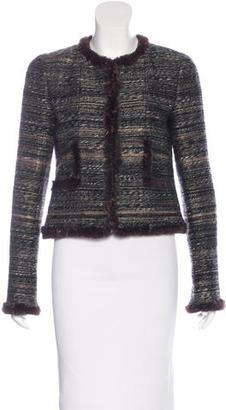 Chanel Fur-Trimmed Tweed Jacket $795 thestylecure.com
