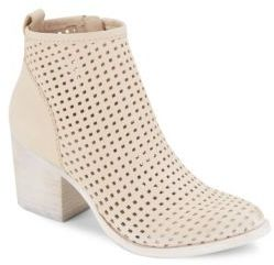 Lasercut Leather Heel Boots $140 thestylecure.com