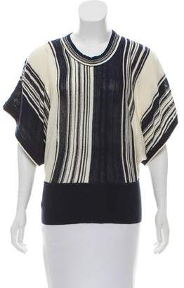 Black Fleece Knit Short Sleeve Top