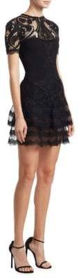 Jonathan Simkhai Crepe Applique Mini Tee Dress